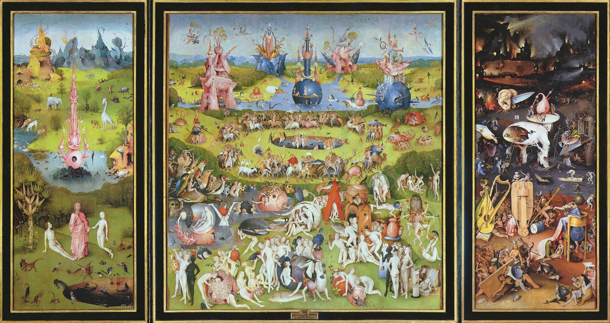 Ogród rozkoszy ziemskich Źródło: Hieronim Bosch, Ogród rozkoszy ziemskich, 1480-1505.