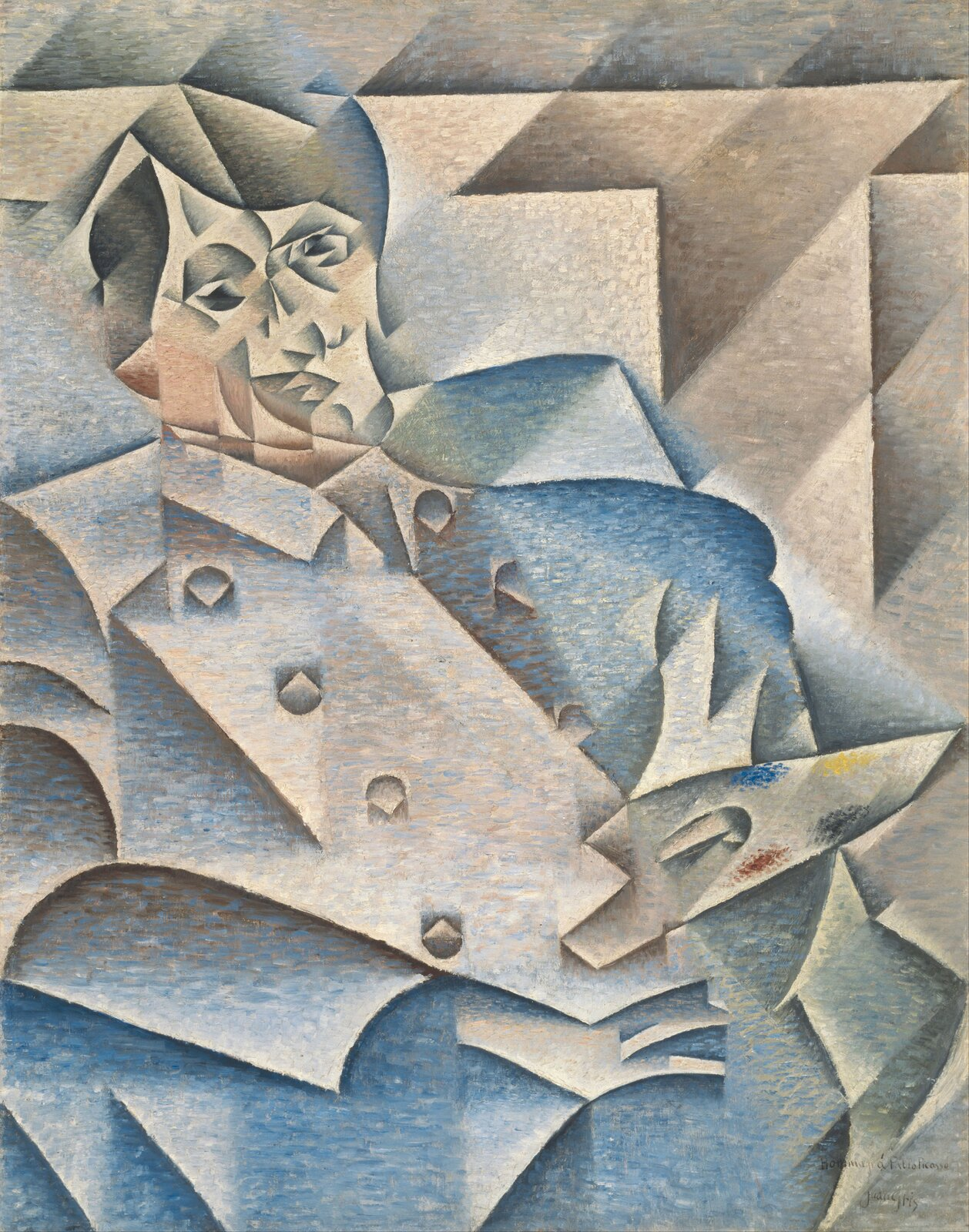 Portret Pabla Picassa Źródło: Juan Gris, Portret Pabla Picassa, 1912, olej na płótnie, Art Institute of Chicago, Chicago, domena publiczna.