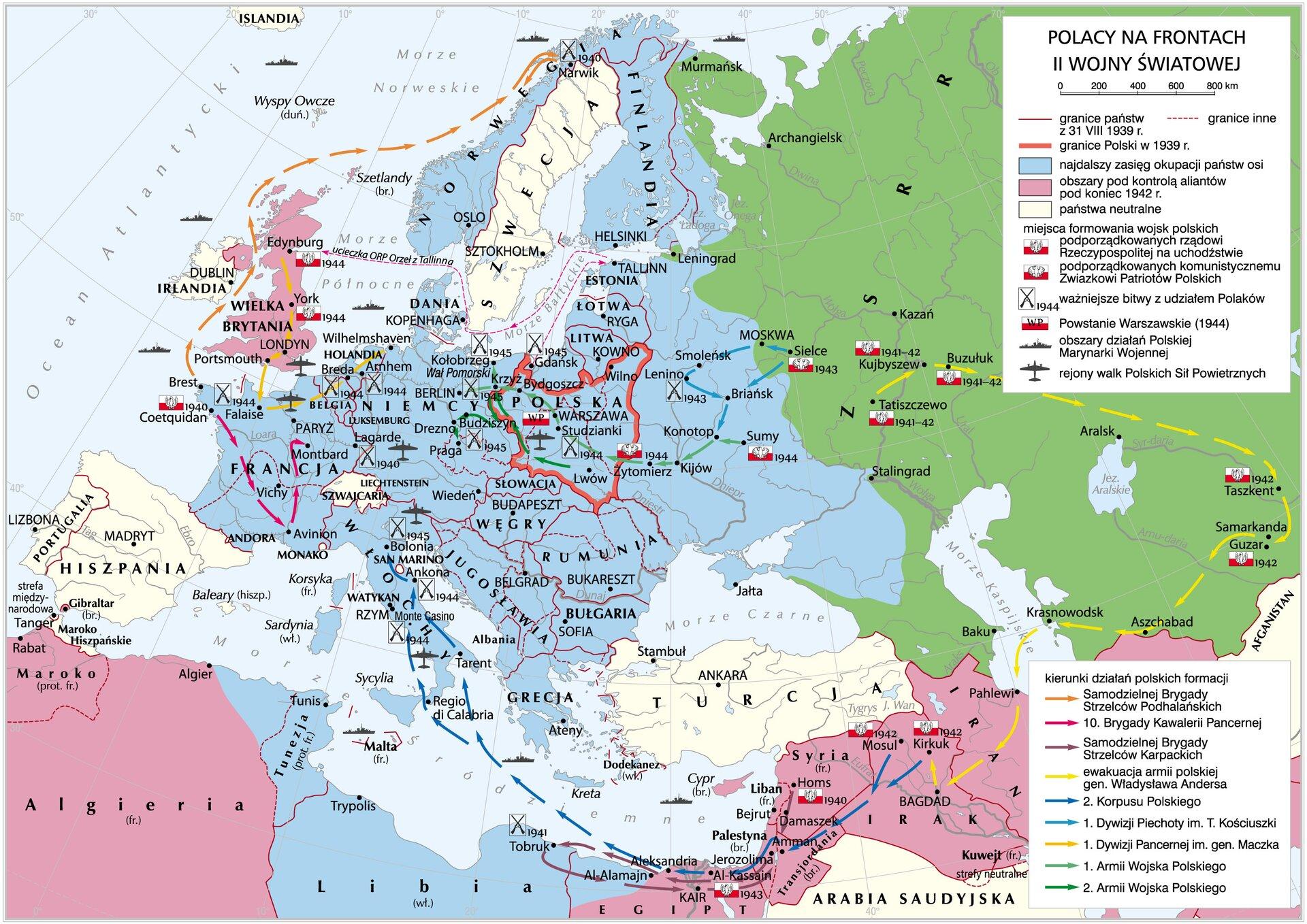 Polacy na frontach II wojny światowej Polacy na frontach II wojny światowej Źródło: Krystian Chariza izespół, licencja: CC BY 3.0.
