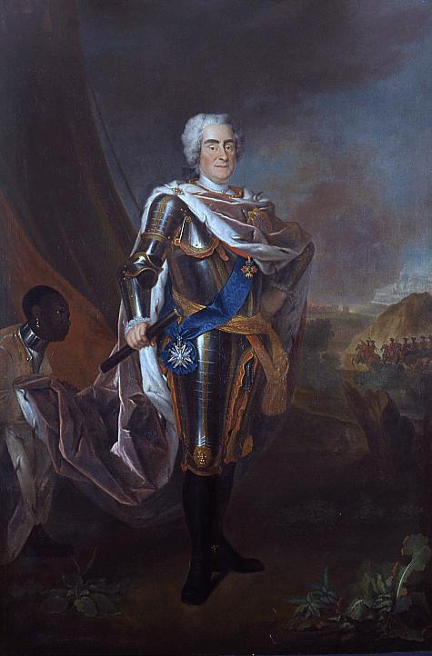 Francuski portrecista Louis de Silvestre namalował ok. 1720 r. Augusta II Mocnego, który rządził wPolsce wlatach 1697–1706 oraz 1709–1733. Francuski portrecista Louis de Silvestre namalował ok. 1720 r. Augusta II Mocnego, który rządził wPolsce wlatach 1697–1706 oraz 1709–1733. Źródło: Louis de Silvestre, przed 1720, domena publiczna.