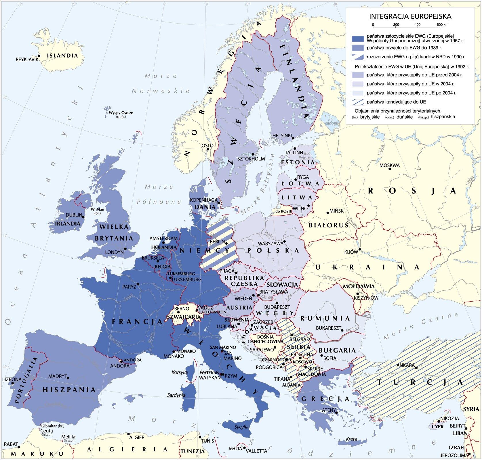 Integracja europejska Integracja europejska Źródło: Krystian Chariza izespół, licencja: CC BY 4.0.
