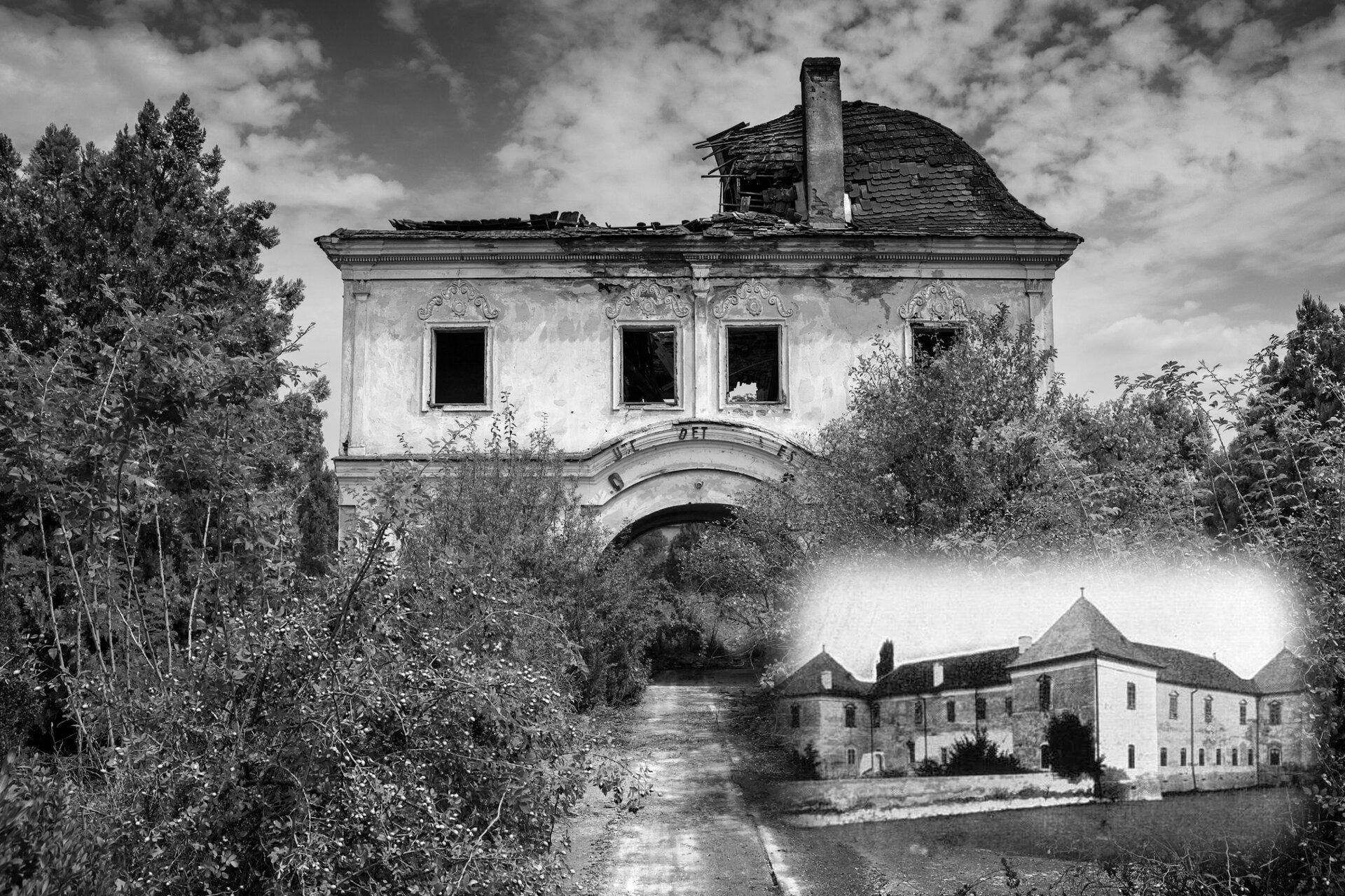 Ruiny zamku wRadnot (Iernut, Rumunia), rodowej siedziby Jerzego Rakoczego.