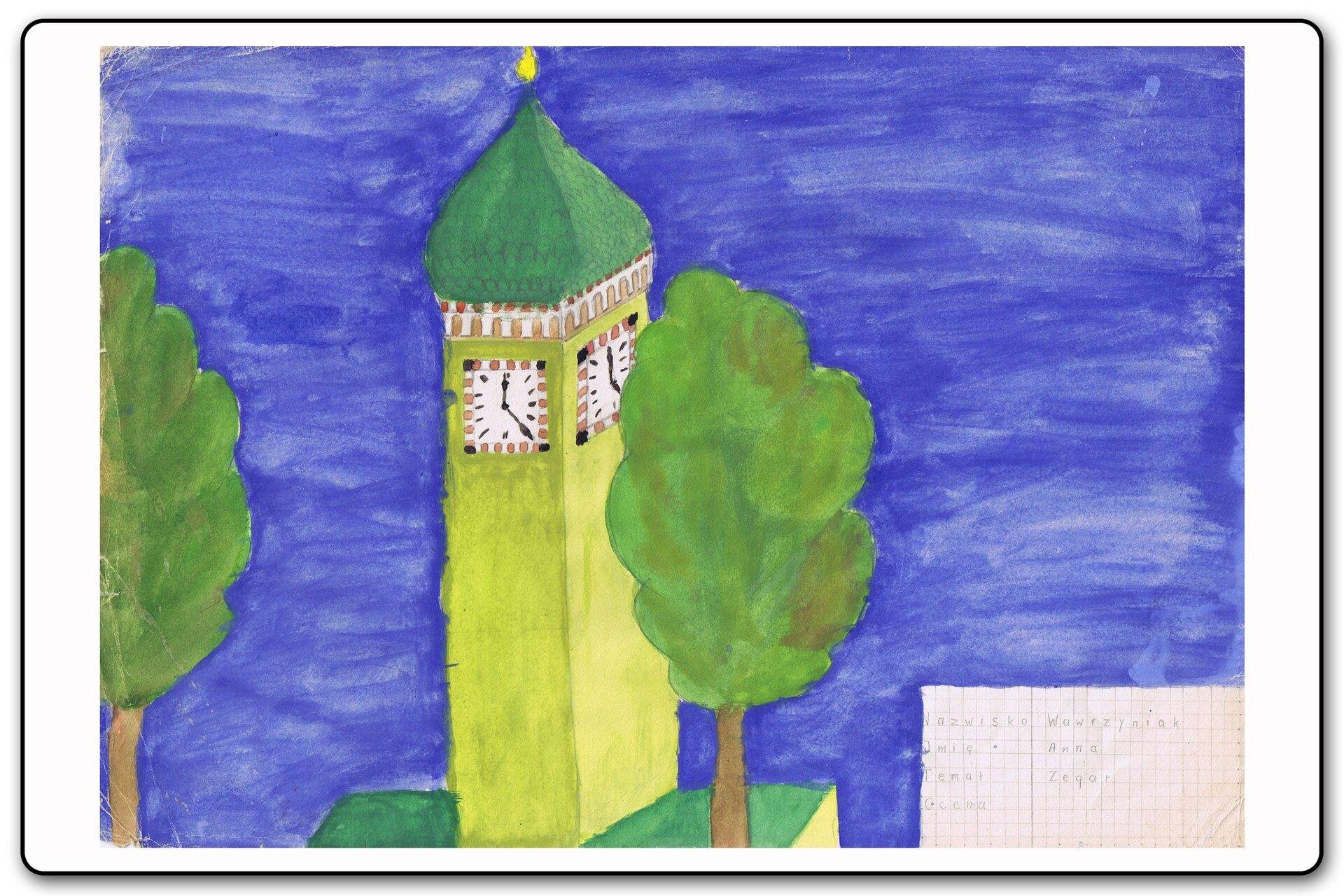 Ilustracja 3 galerii prac plastycznych uczniów