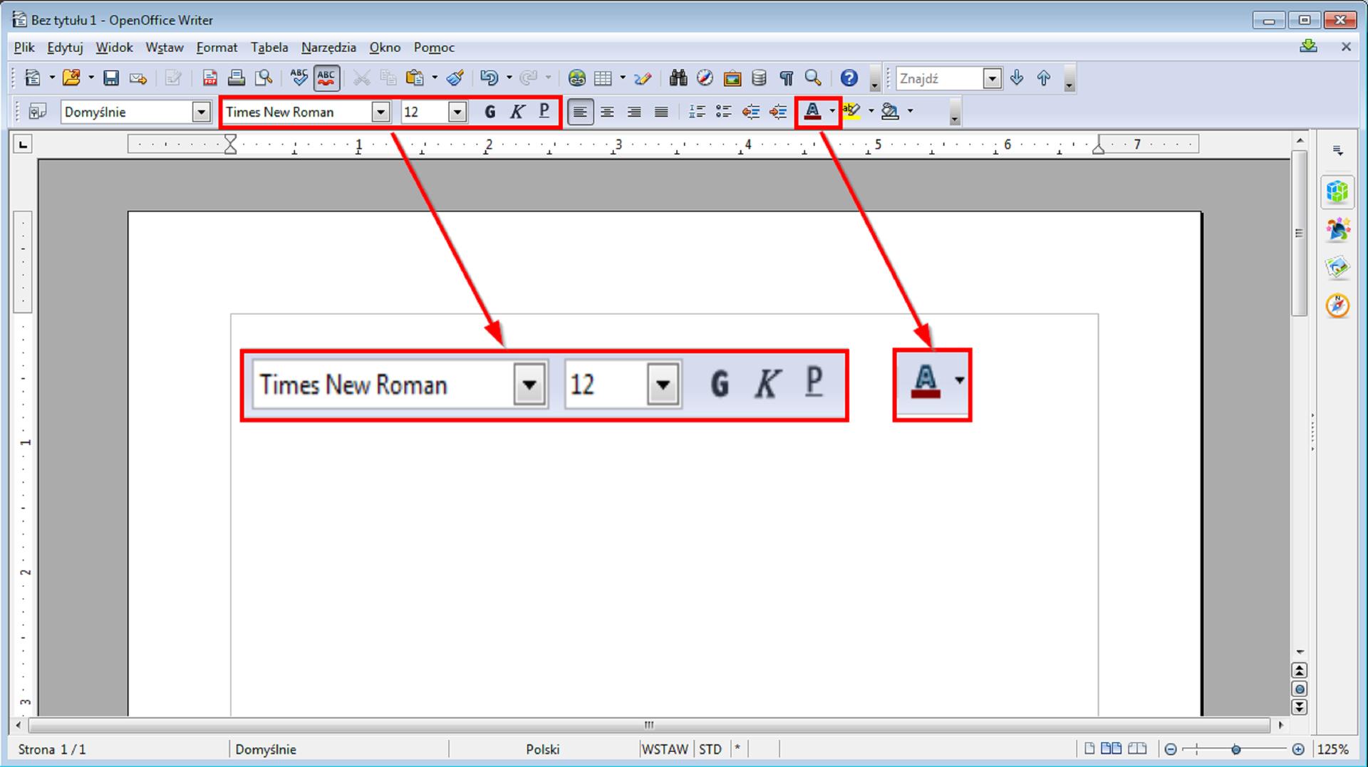 Slajd 2 galerii narzędzi formatowana różnych edytorów tekstu