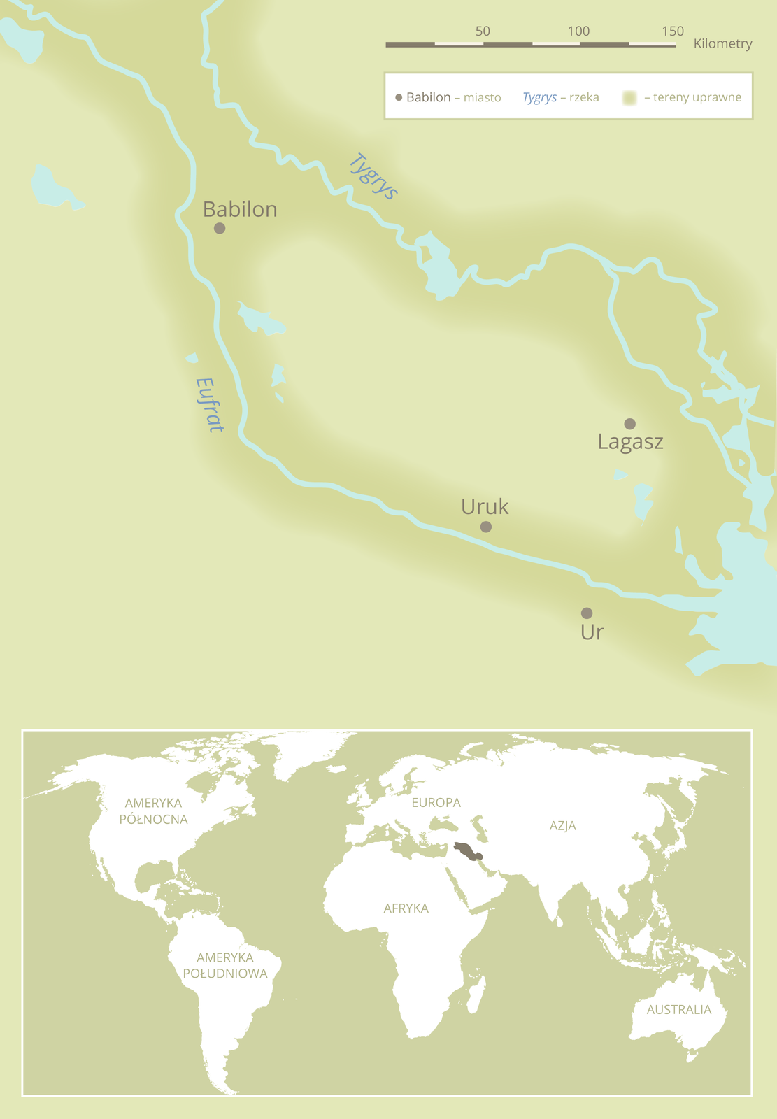 Mezopotamia – kraina między Tygrysem aEufratem Mezopotamia – kraina między Tygrysem aEufratem Źródło: Contentplus.pl sp. zo.o., licencja: CC BY 3.0.