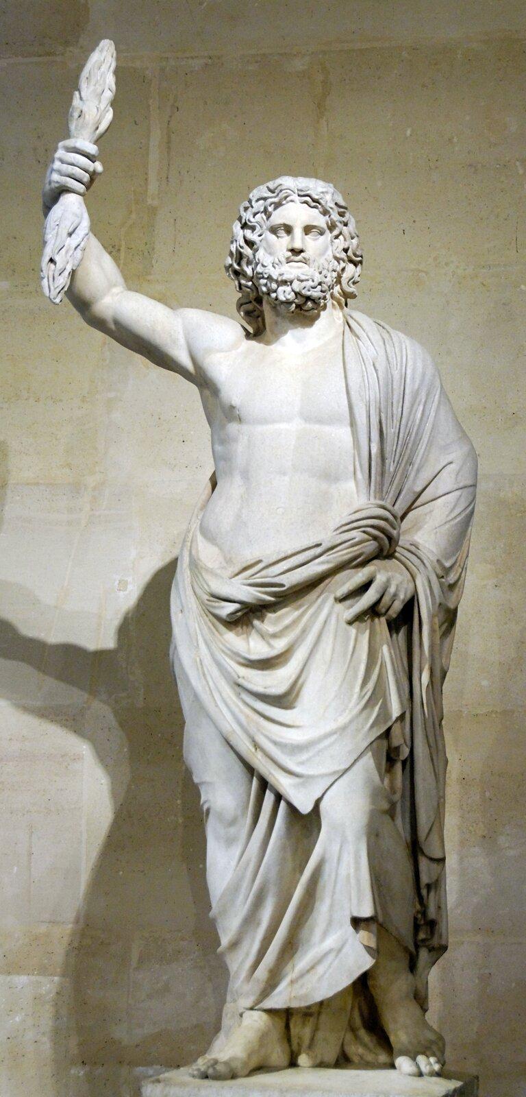 Zeus ze Smyrny Źródło: Artysta nieznany, Zeus ze Smyrny, 250 p.n.e., Muzeum wLuwrze, domena publiczna.