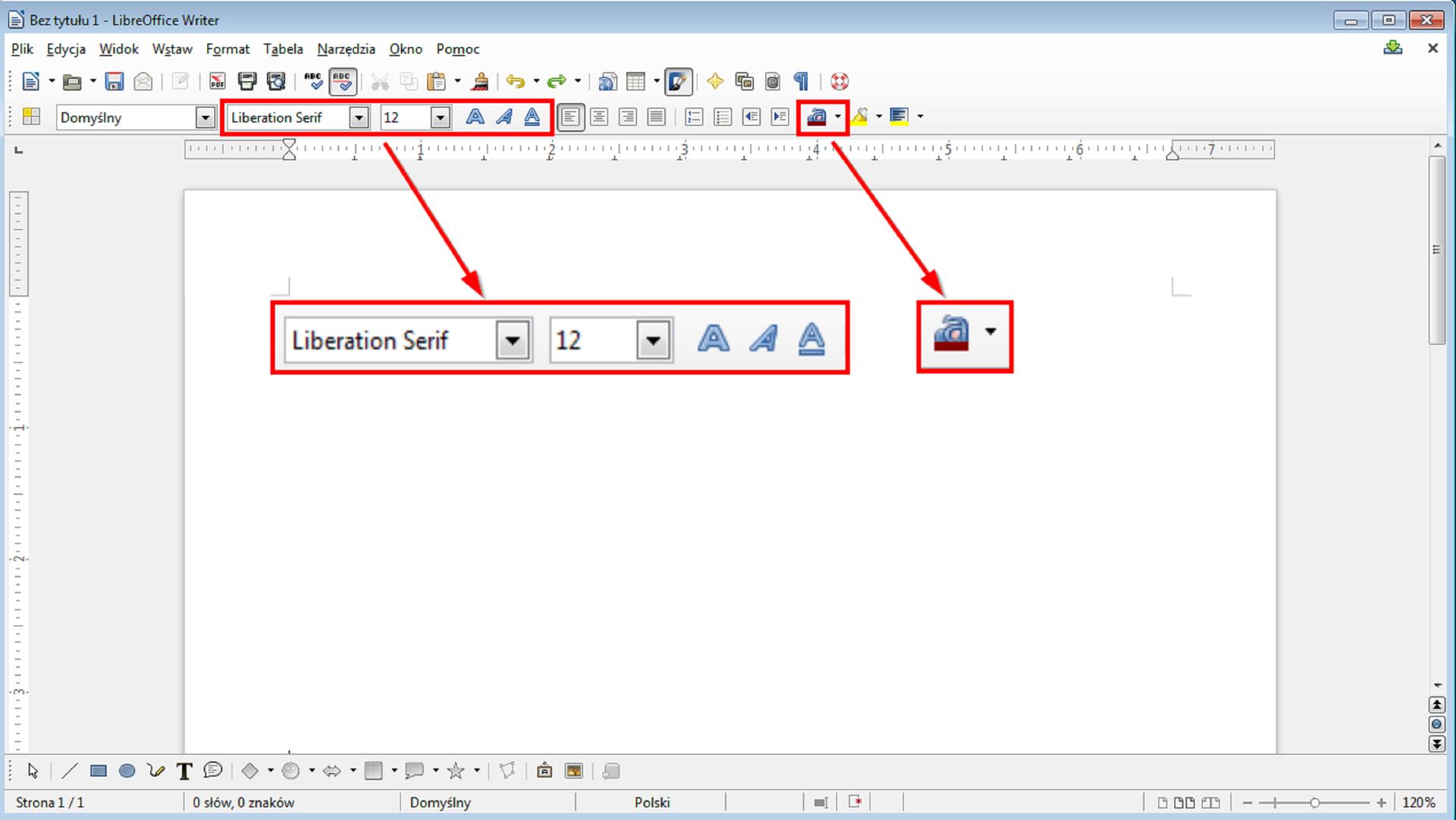 Slajd 1 galerii narzędzi formatowana różnych edytorów tekstu