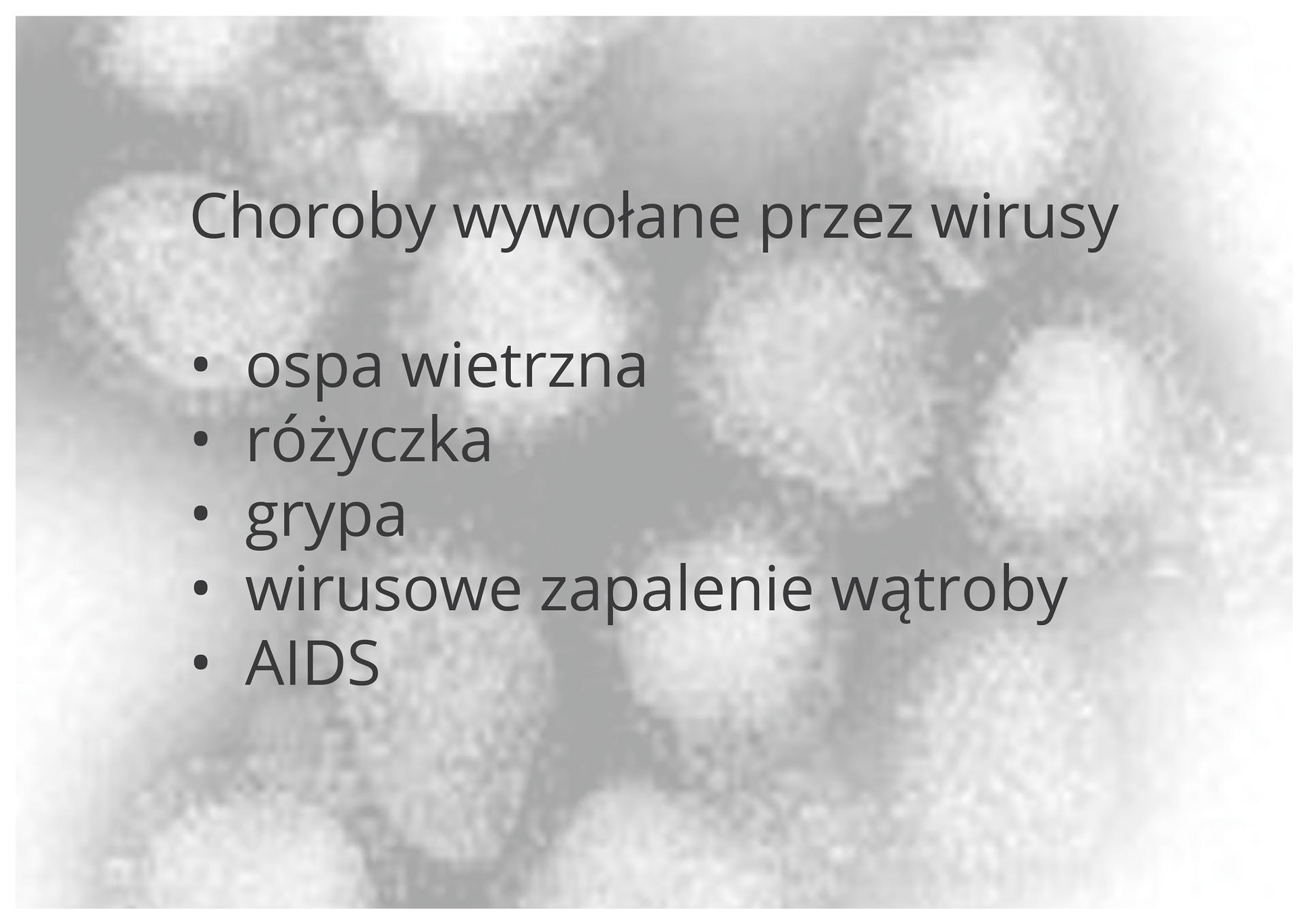 Choroby wywołane przez wirusy