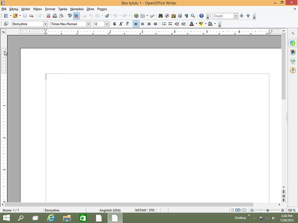 Interaktywne okno programu systemu Windows 10