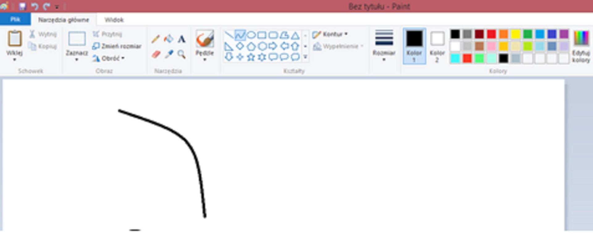 Ilustracja przedstawiająca etap 2 rysowania krzywych