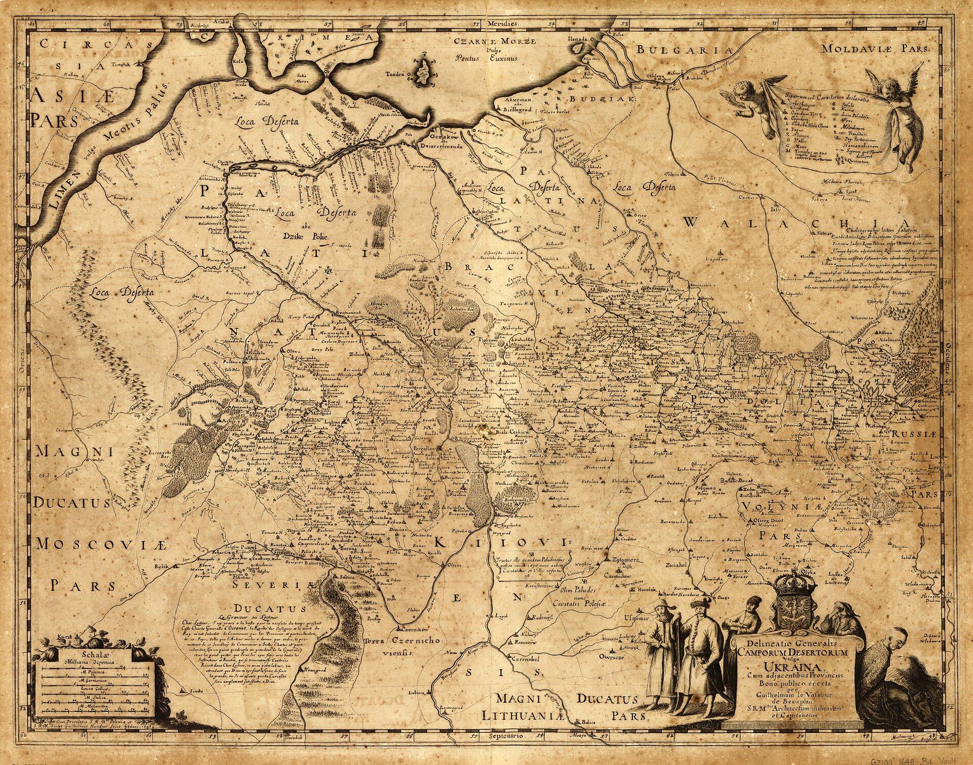 DzikiePola orazziemie ruskieIRzeczypospolitej DzikiePola orazziemie ruskieIRzeczypospolitej Źródło: Vasseur de Beauplan, 1648, domena publiczna.