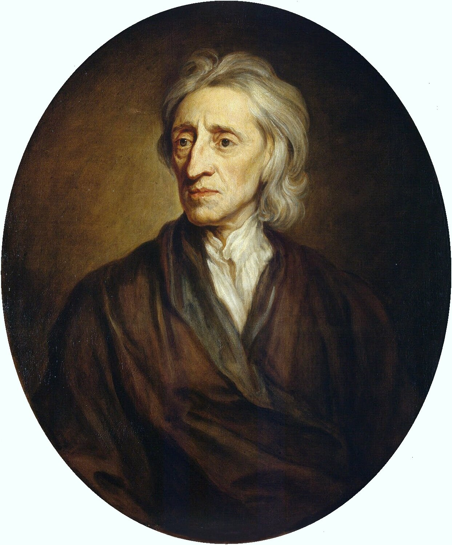 Portret Johna Locke'a Źródło: Godfrey Kneller, Portret Johna Locke'a, 1697, olej na płótnie, Ermitaż , domena publiczna.