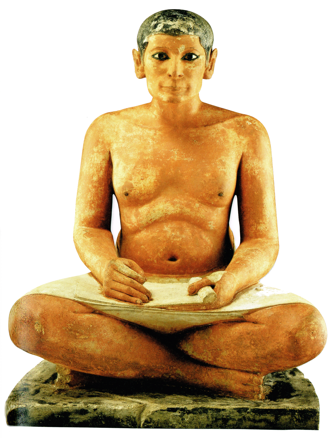 Pisarz egipski był osobą wykształconą, posiadającą umiejętność pisma Pisarz egipski był osobą wykształconą, posiadającą umiejętność pisma Źródło: Musée du Louvre, tylko do użytku edukacyjnego.