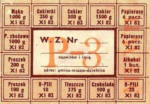 Kartka wieloasortymentowa Kartka wieloasortymentowa Źródło: domena publiczna.