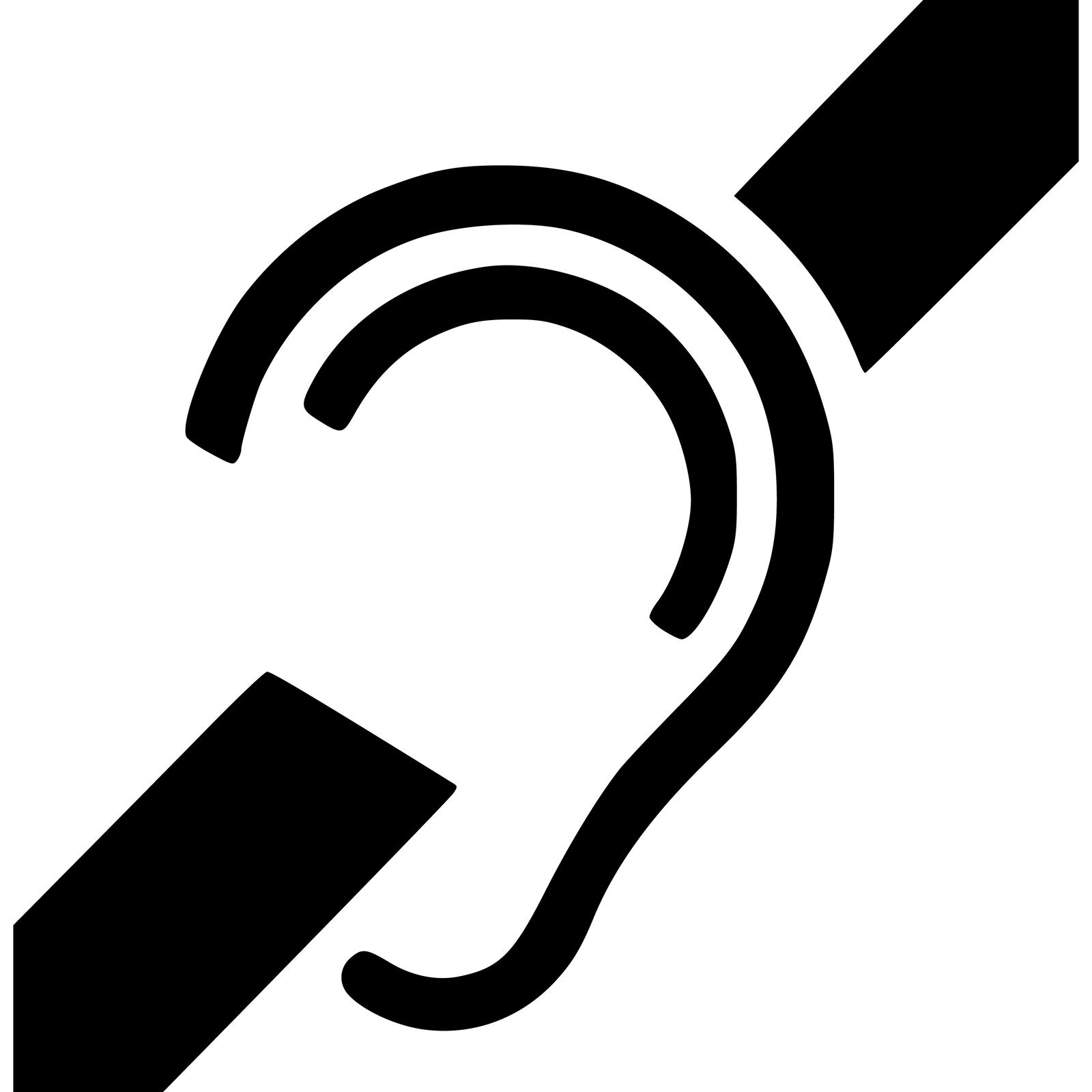 Piktogram - niesłyszący