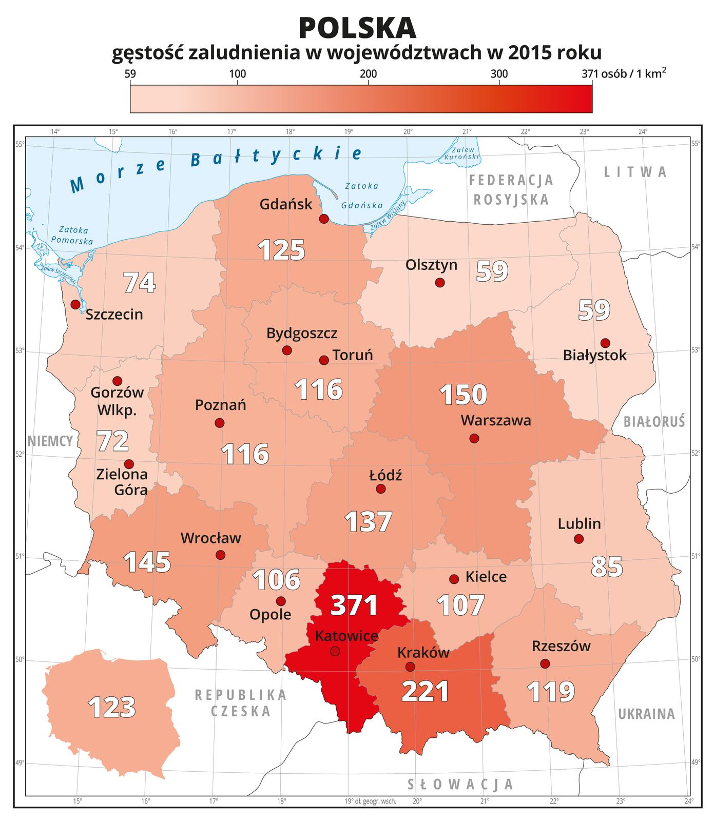Rozmieszczenie ludności wPolsce
