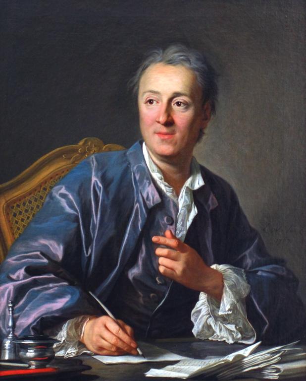 Denis Diderot Wolnomyśliciel Denis Diderot był pomysłodawcąWielkiej encyklopedii francuskiej. Źródło: Luis-Michel van Loo, Denis Diderot, 1767, olej na płótnie, Luwr, domena publiczna.