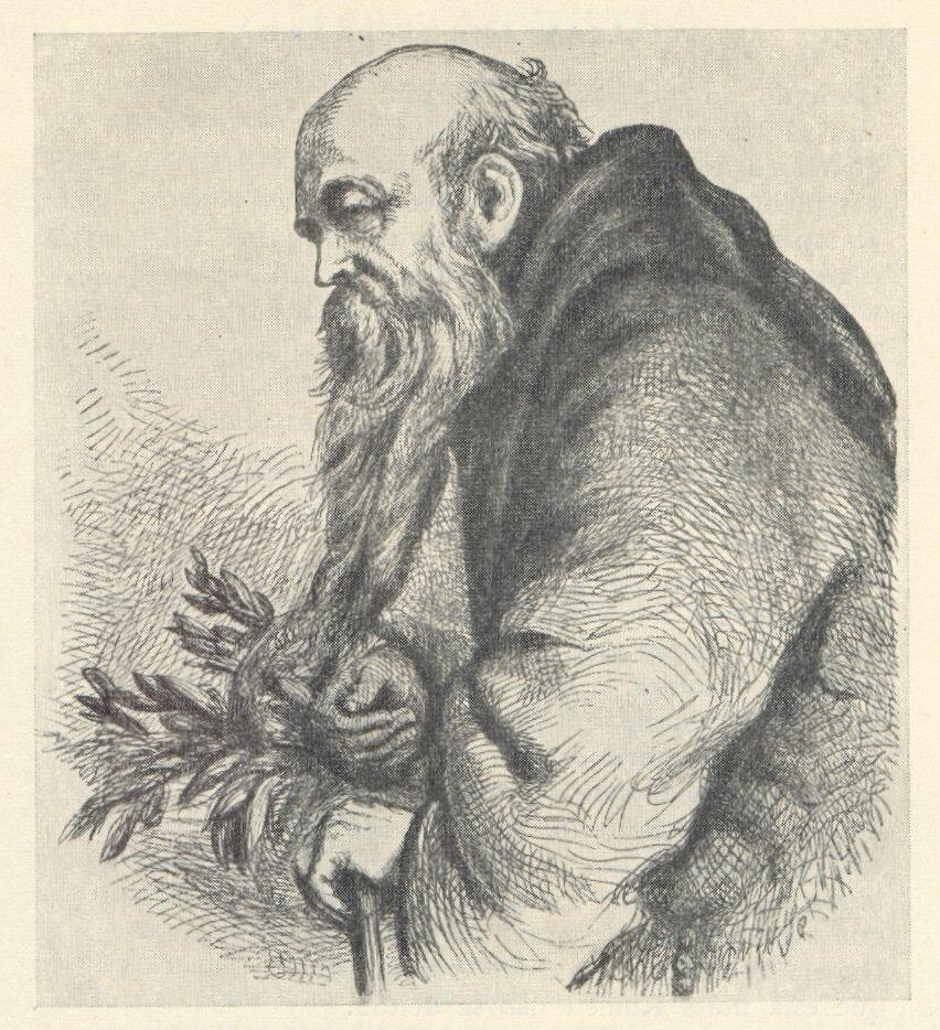 ilustracja doRomea iJulii(akt II, scena 3 – Wchodzi ojciec Laurenty, dźwigając koszyk)