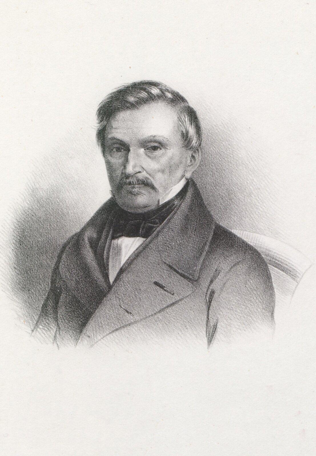 Aleksander hr. Fredro Aleksander hr. Fredro Źródło: Karol Auer, 1858, domena publiczna.