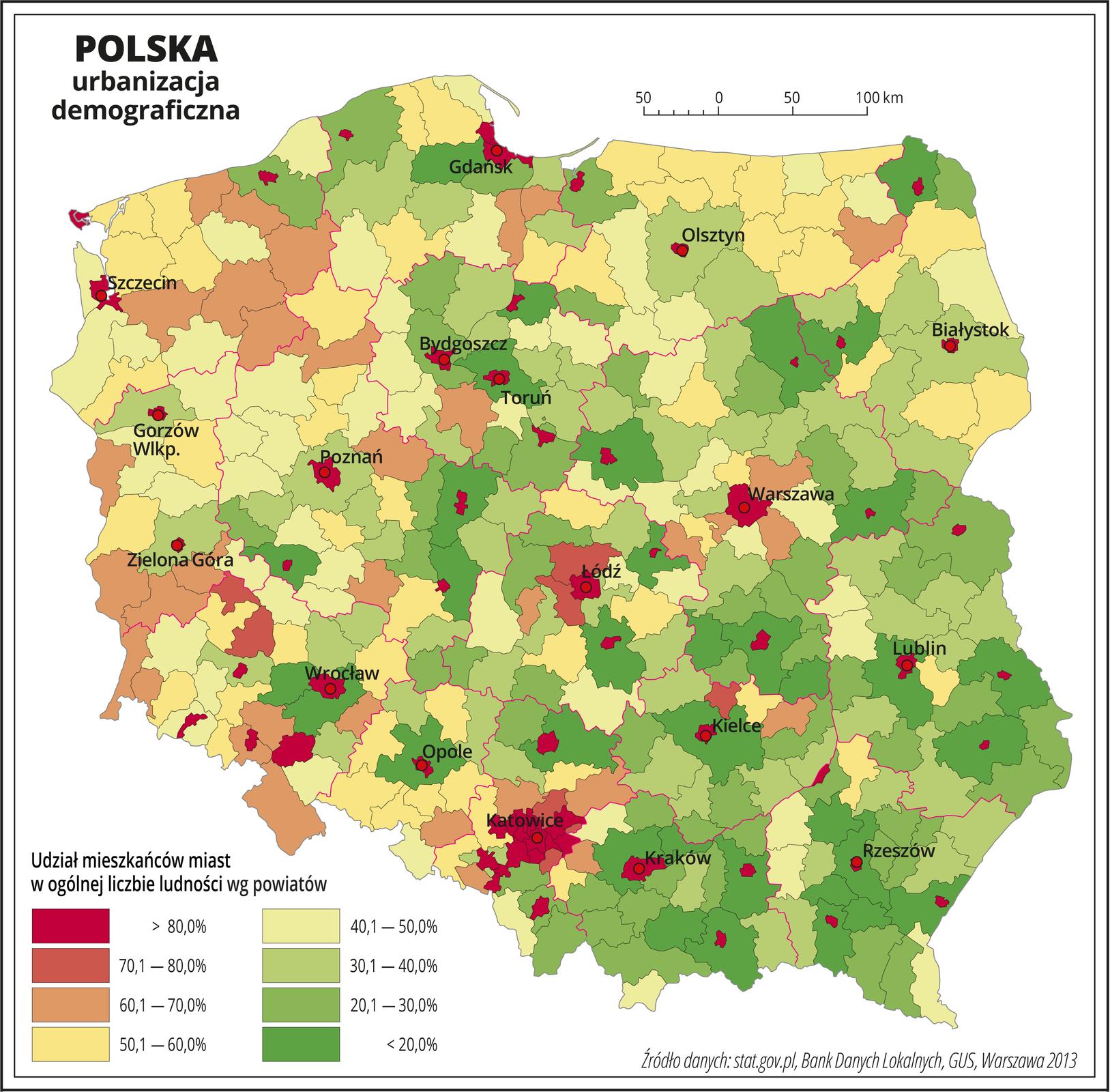 Urbanizacja Polski