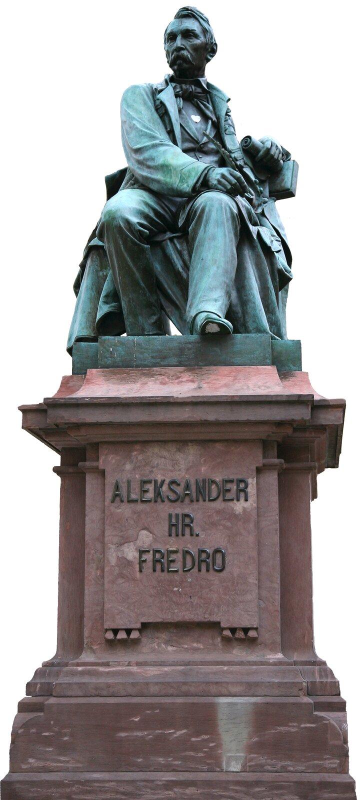 Leonard Marconi, pomnik Aleksandra Fredry, 1879; tu: zdjęcie zWrocławia Leonard Marconi, pomnik Aleksandra Fredry, 1879; tu: zdjęcie zWrocławia Źródło: Małgorzata Skibińska, Contentplus.pl sp. zo.o., fotografia barwna, licencja: CC BY 3.0.