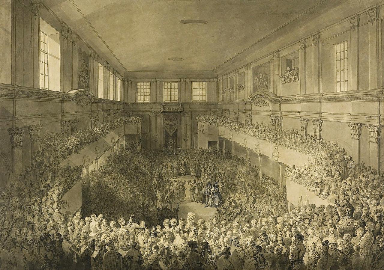 Zaprzysiężenie Konstytucji 3 maja Zaprzysiężenie Konstytucji 3 maja Źródło: Jan Piotr Norblin, Zaprzysiężenie Konstytucji 3 maja, 1791, Muzeum Narodowe wWarszawie, domena publiczna.