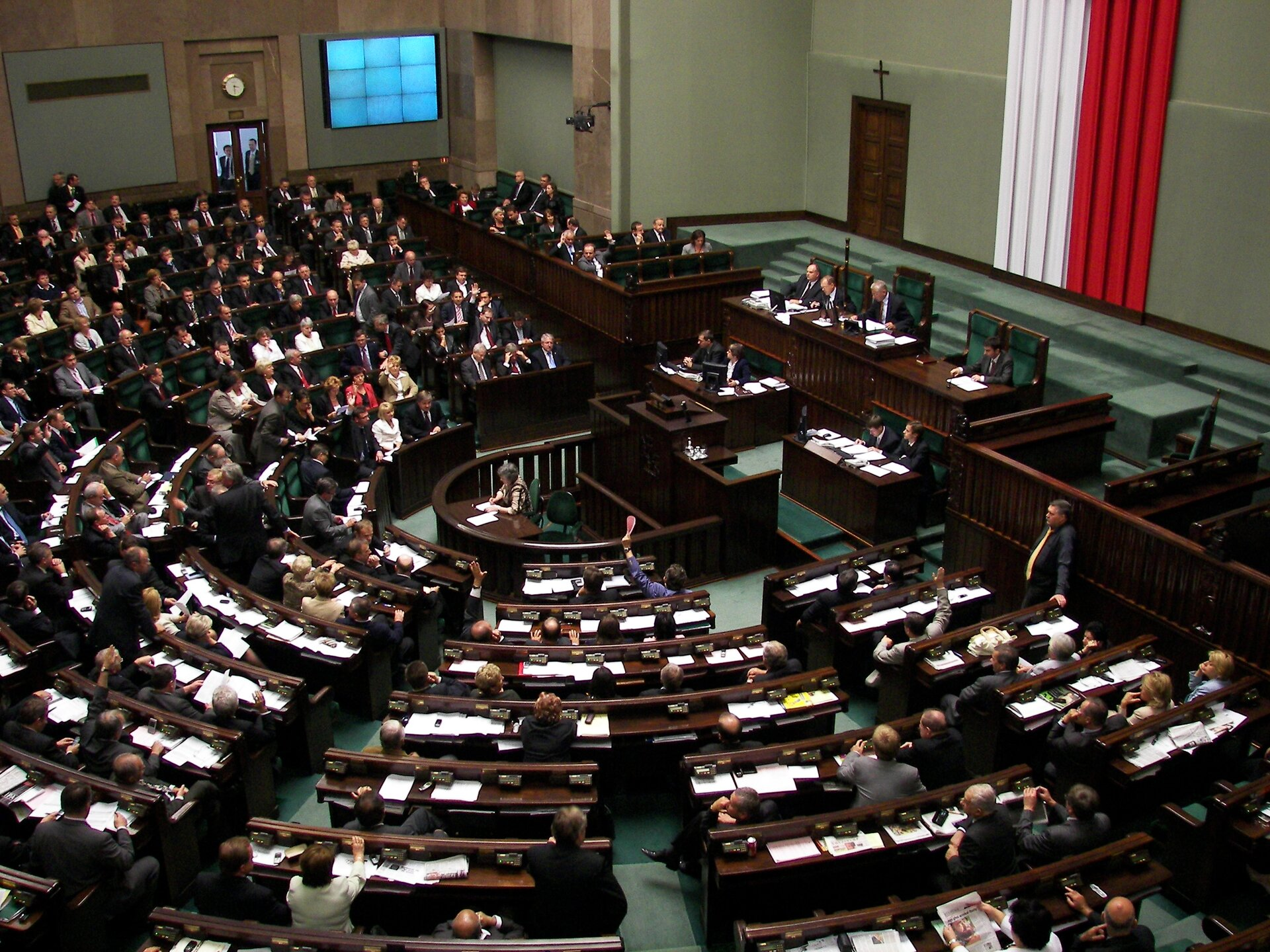 Obrady Sejmu RP Źródło: Piotr VaGla Waglowski, Obrady Sejmu RP, licencja: CC 0.