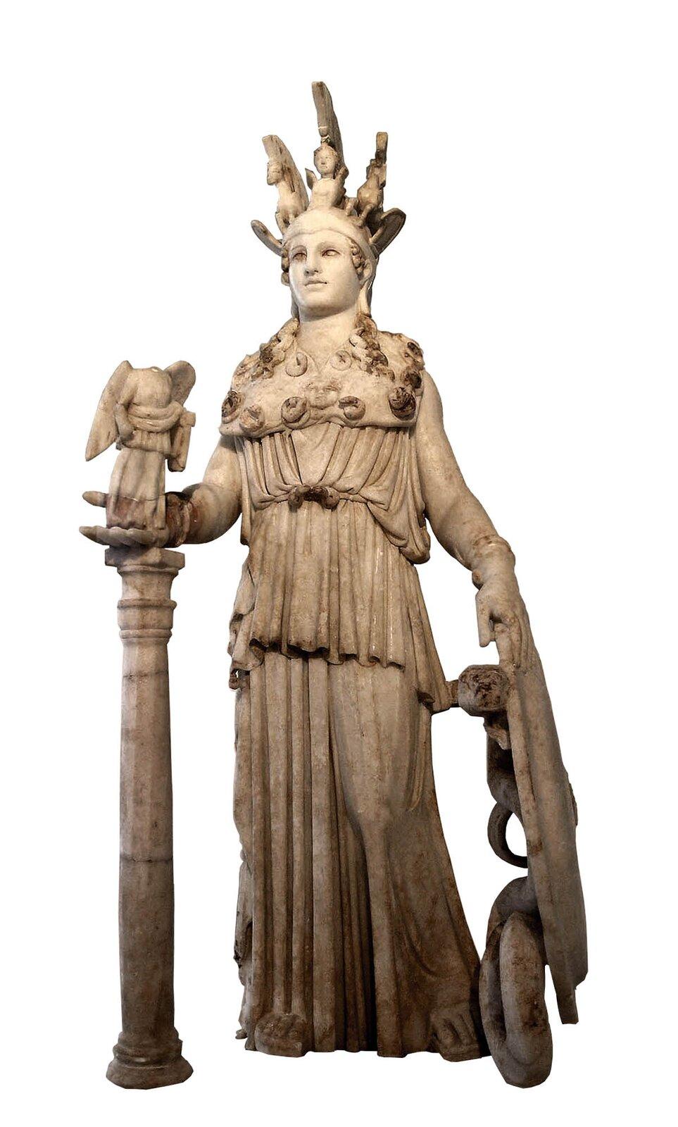 Posąg przechowywany obecnie wNarodowym MuzeumArcheologicznym wAtenach Posąg przechowywany obecnie wNarodowym MuzeumArcheologicznym wAtenach Źródło: Marsyas, Wikimedia Commons, licencja: CC BY-SA 3.0.