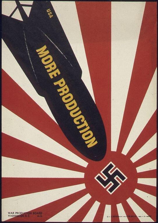 More Production Źródło: More Production, 1941–1945, plakat propagandowy, domena publiczna.
