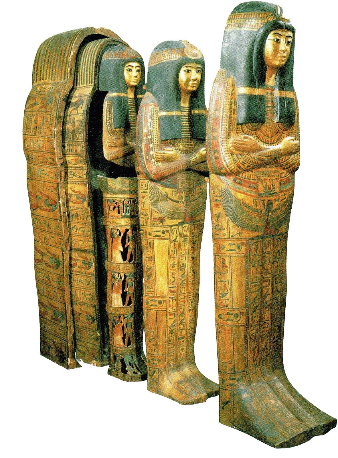 Sarkofag kobiety zXI-X wieku p.n.e., obecnie przechowywany wLuwrze wParyżu Sarkofag kobiety zXI-X wieku p.n.e., obecnie przechowywany wLuwrze wParyżu Źródło: Musée du Louvre, tylko do użytku edukacyjnego.