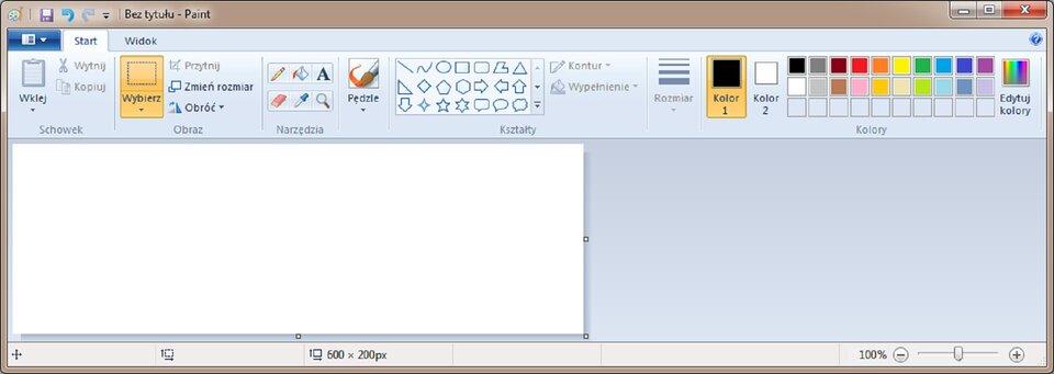 Interaktywne okno programu Paint