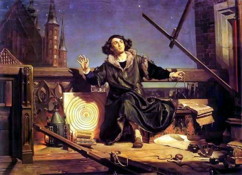 Astronom Kopernik, czyli rozmowa zBogiem Źródło: Jan Matejko, Astronom Kopernik, czyli rozmowa zBogiem, 1872, olej na płótnie, Muzeum Uniwersytetu Jagiellońskiego, domena publiczna.