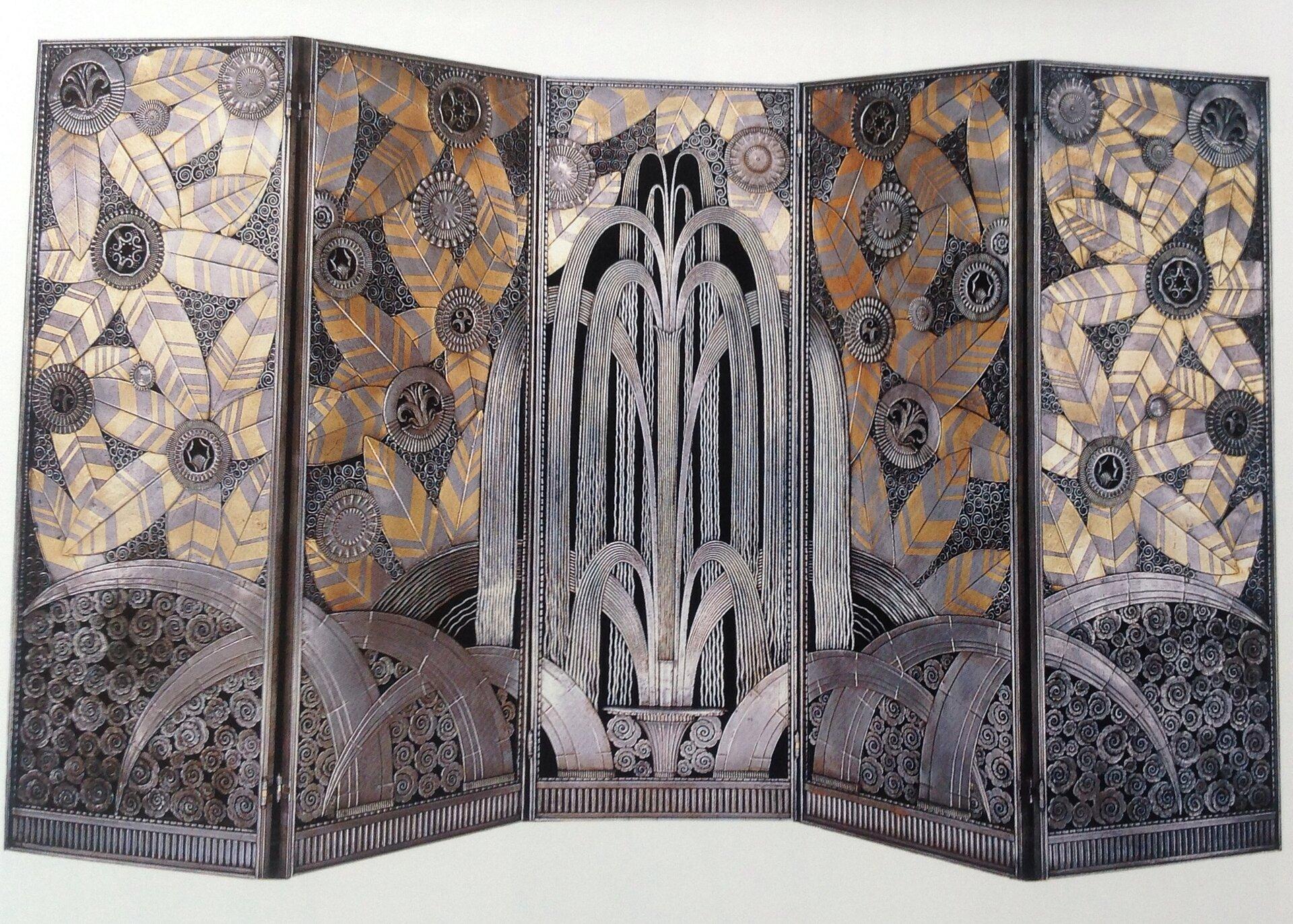 Ilustracja przedstawia Parawan Oasis. Parawan posiada ozdobne geometryczne elementy, tworząc spójną iharmonijną kompozycję.