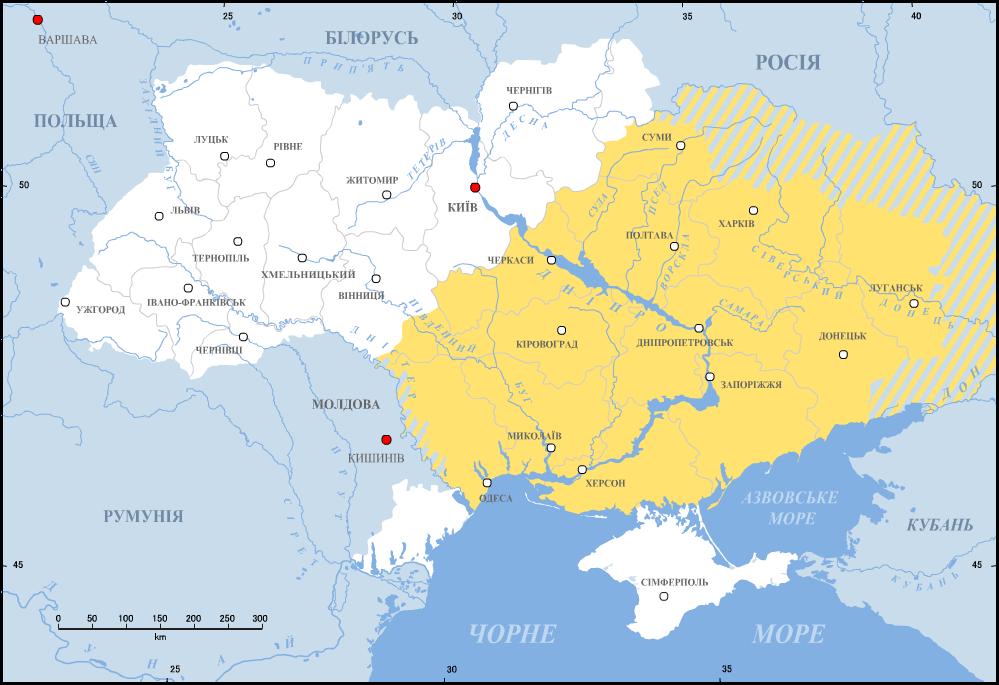Współczesna, przybliżona lokalizacja Dzikich Pól Współczesna, przybliżona lokalizacja Dzikich Pól Źródło: Alex Tora, 2009, licencja: CC BY-SA 3.0.