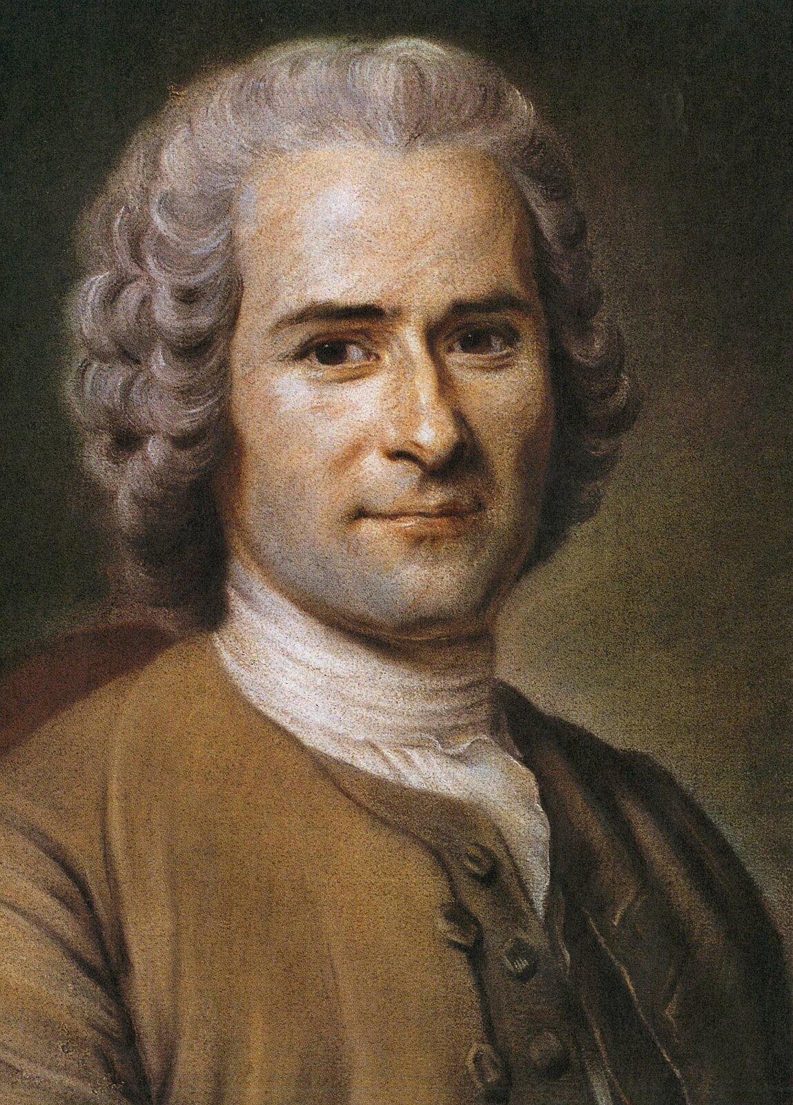 Portret Jeana Jacquesa Rousseau Źródło: Maurice Quentin de La Tour, Portret Jeana Jacquesa Rousseau, brak daty powstania, pastele na papierze, Musée Antoine-Lécuyer, Francja , domena publiczna.