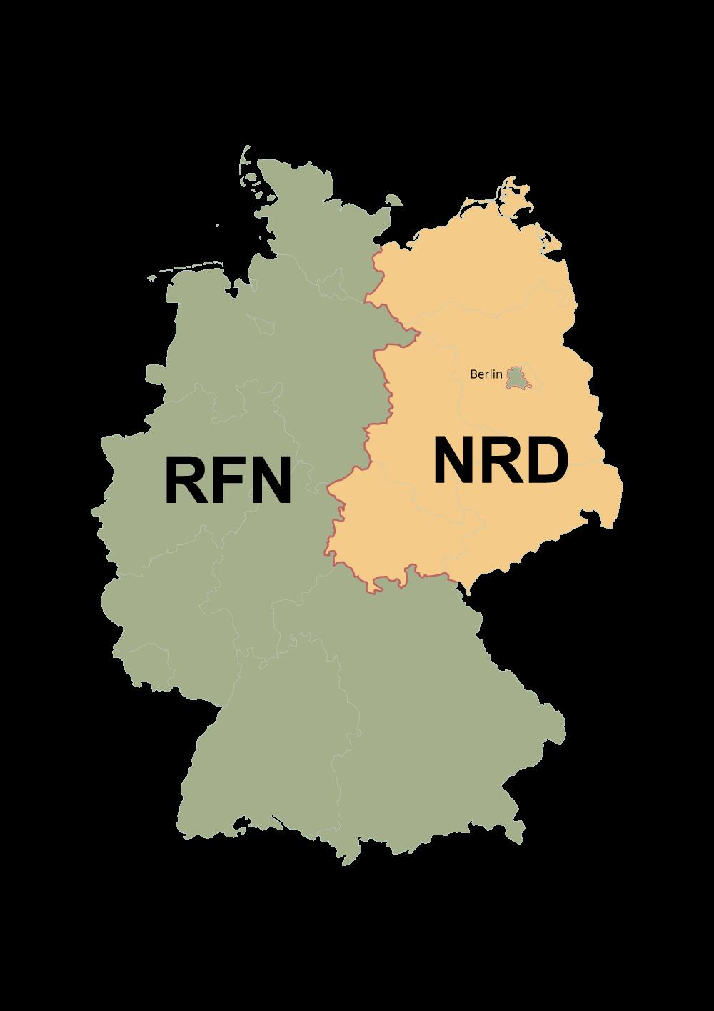 Podział Niemiec na RFN iNRD.