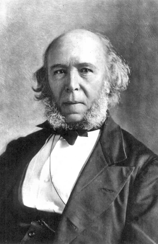 Herbert Spencer (1820–1903) Źródło: Herbert Spencer (1820–1903), domena publiczna.
