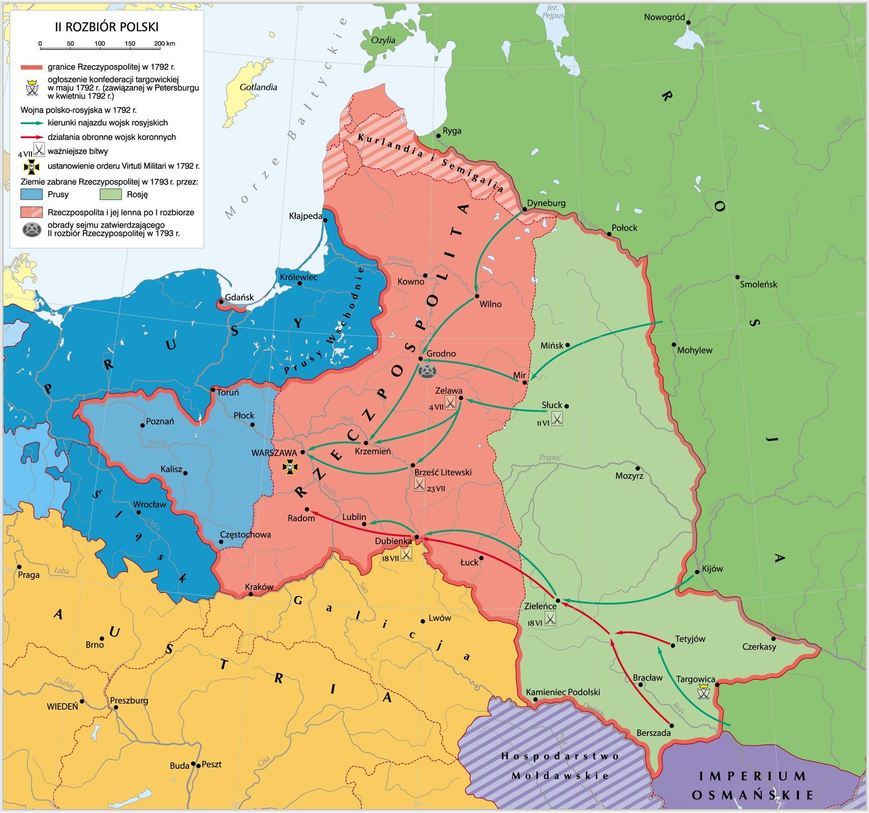II rozbiór Polski II rozbiór Polski Źródło: Krystian Chariza izespół, licencja: CC BY 4.0.
