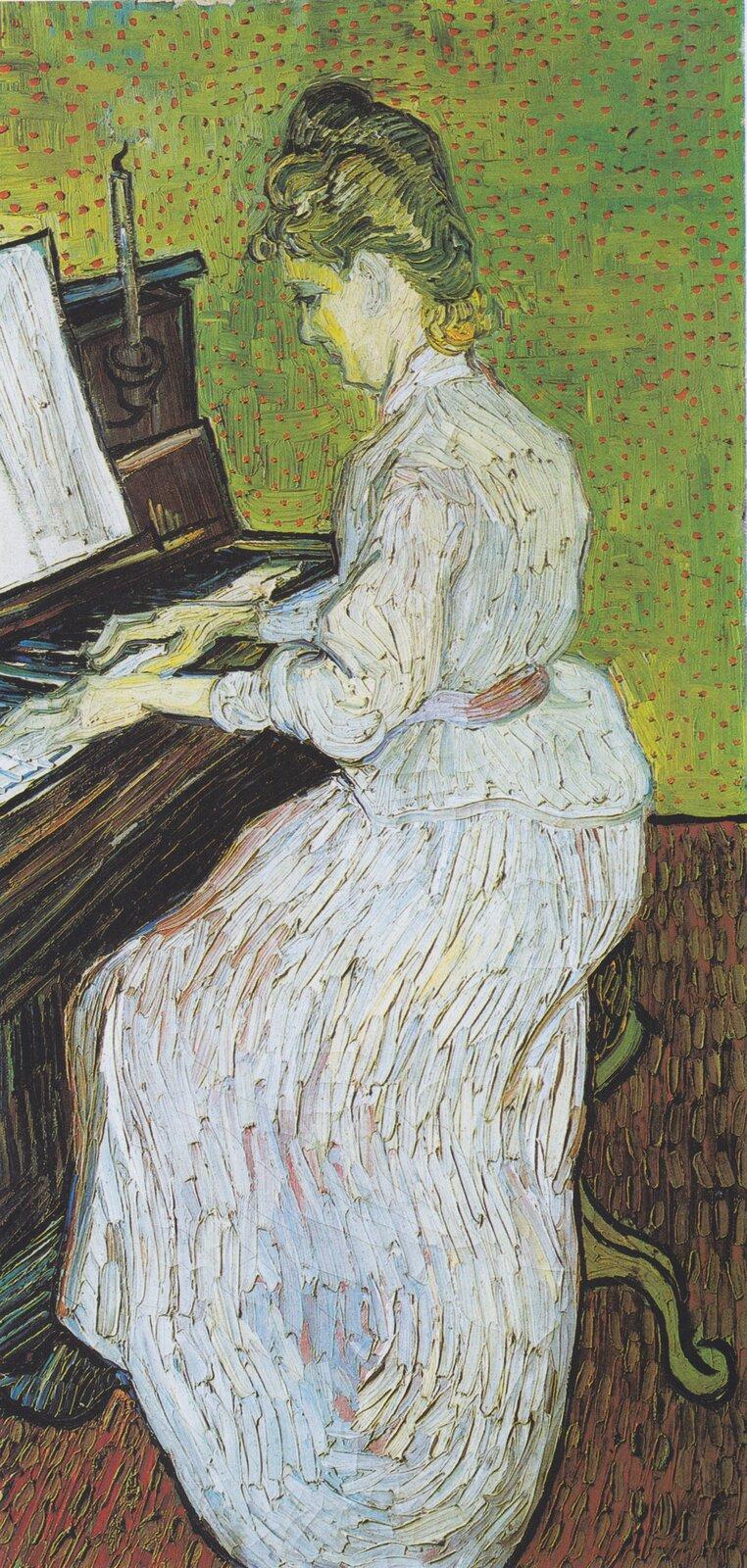 Vincent van Gogh, Marguerite Gachet przy pianinie