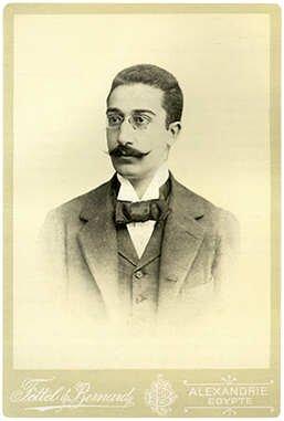Portret Konstandinosa Kawafisa Źródło: Portret Konstandinosa Kawafisa, 1900, licencja: CC 0.