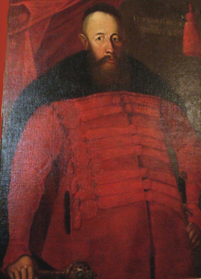 """Hetman Stanisław Koniecpolski Hetman Stanisław Koniecpolski, októrym mawiano, żeszybciej uderzy niż wymówi. Nie przeszkodziło mu to jednak odnosić sukcesów wojskowych.Nie uląkł się """"Lwa Północy"""" – Gustawa Adolfa ipobił go pod Trzcianą (27 VI 1629). Król szwedzkiratował się ucieczką, apo bitwie wyznał, że """"tak wielkiej łaźni nigdy nie zażywał"""". Źródło: autor nieznany, Hetman Stanisław Koniecpolski, poł. XVII w., olej na płótnie, domena publiczna."""