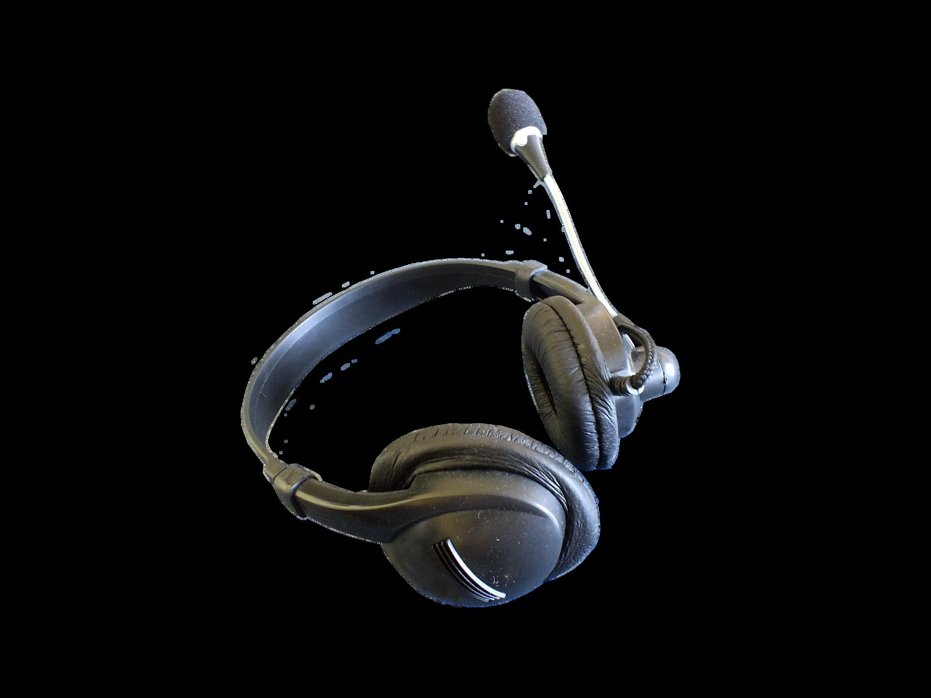 Fotografia przedstawiająca słuchawki imikrofon