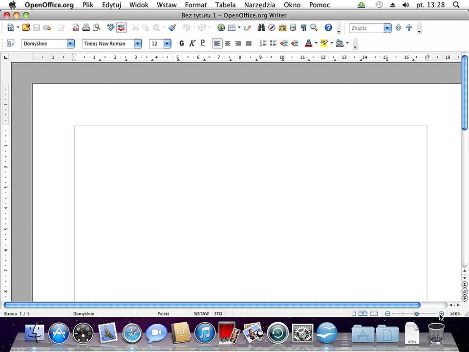 Interaktywne okno programu systemu Mac OS X