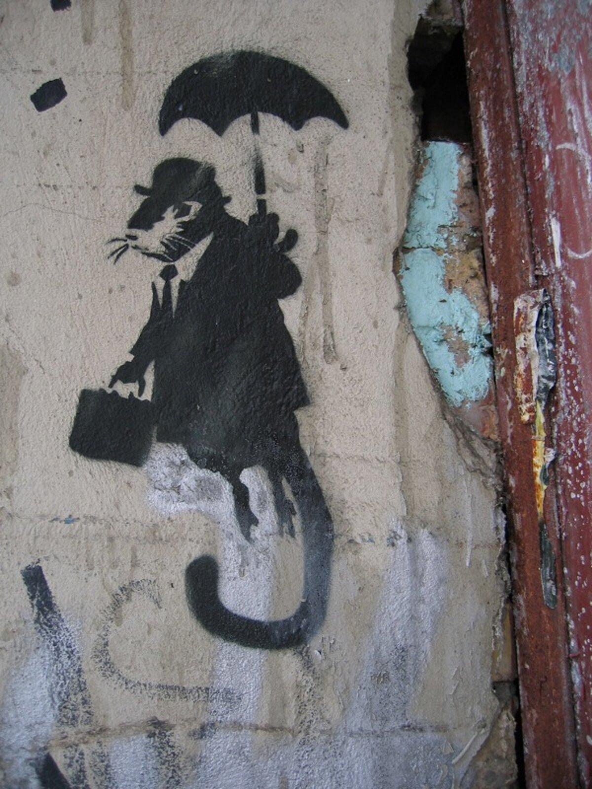 Banksy, Gentelmen Rat, technika szablonu