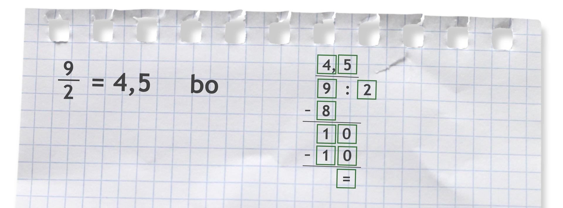Przykład: dziewięć drugich = 4,5 bo 9 dzielone przez 2 =4,5.