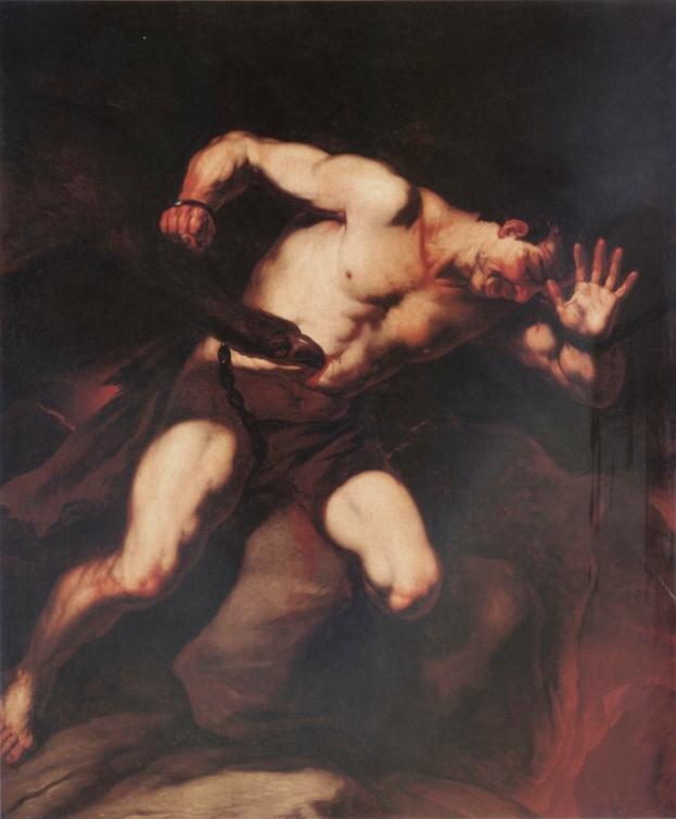 Prometeusz Źródło: Luca Giordano, Prometeusz, II połowa XVII wieku, olej na płótnie, Muzeum Narodowe wWarszawie, domena publiczna.