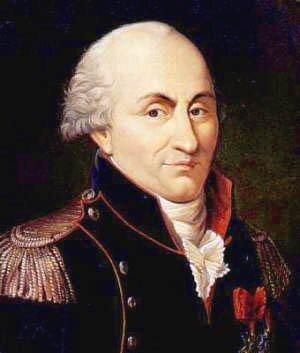 Zdjęcia przedstawiają portret Charles Augustin de Coulomb'a. Mężczyzna wwieku około czterdzieści pięć lat. Blada cera. Czoło wysokie zwidocznymi dużymi zakolami. Siwe włosy zaczesane do tyłu. Mocno kręcone nad uszami. Nos wyrazisty. Mężczyzna ubrany wczarny mundur zpagonami na ramionach. Po lewej stronie na piersi zawieszony order na czerwonej kokardce.
