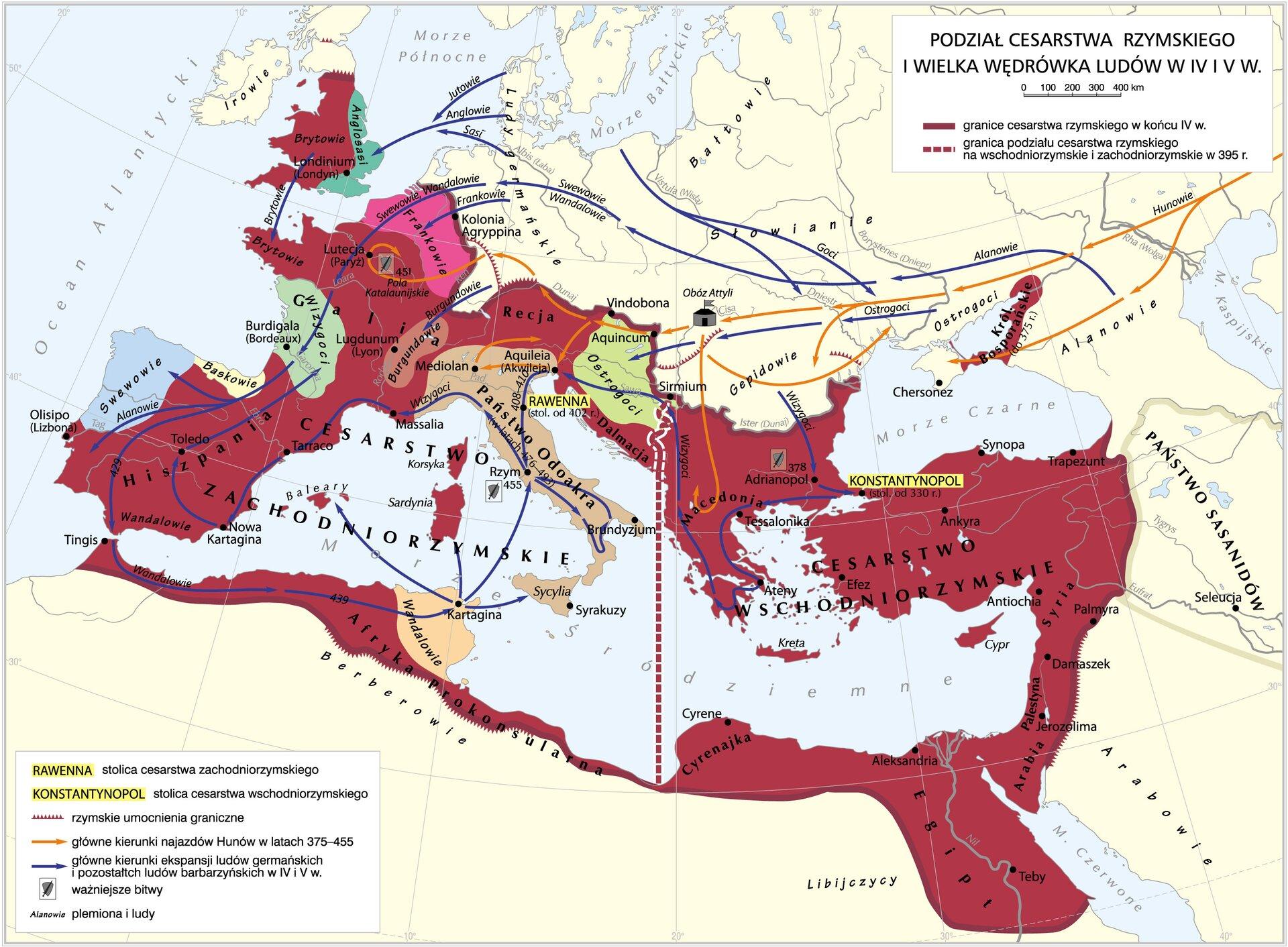 Podział cesarstwa rzymskiego Podział cesarstwa rzymskiego Źródło: Krystian Chariza izespół.
