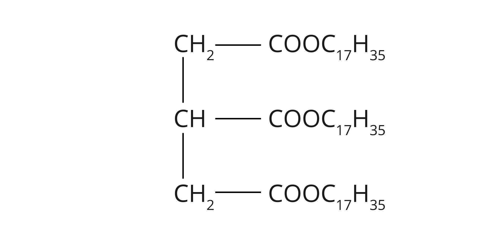 Wzór grupowy tristearynianu glicerolu