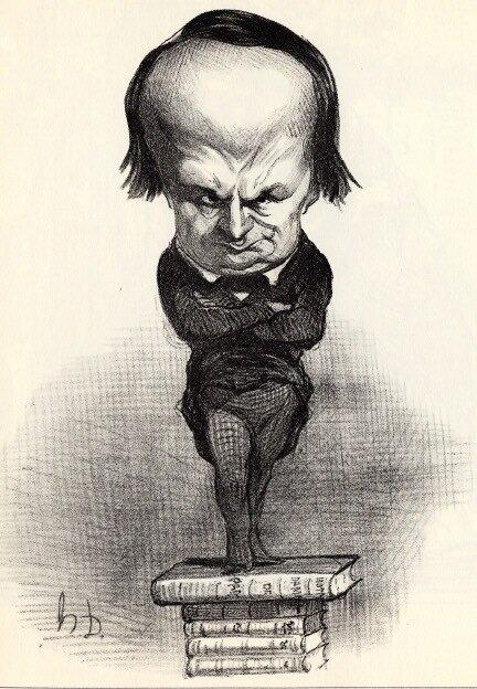 Karykatura Wiktora Hugo Karykatura Wiktora Hugo Źródło: Honoré Daumier, 1849, domena publiczna.